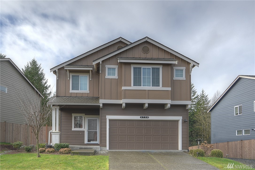 Like new 4 year old 4 BR, 2.5 bath, 2,712± sq ft home in quiet Tumwater neighborhood 'Trosper Ridge' minutes to I-5 and JBLM.  Huge open kitchen/living area with over-sized tiled chef's island , SS appliances, gas log fireplace, large MBR w/5 pc bath, family room over garage, den on main, A/C and more! Custom deck and professional landscaped backyard with courtyard abutting wetlands and wooded open space. Community playground area and great proximity to schools, shopping and freeways!