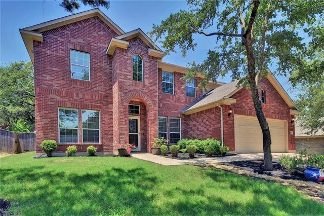 AMAZING BACKYARD. If you want large backyard, backing to woods, fenced on a cul-de-sac yet walkable to shopping and restaurants STOP - you found your dream home. The home flows beautifully with a great plan with first floor MB, study, dining room and eat in kitchen. The second floor has recreation room, 3 large bedrooms and a media room. Crystal Falls is an award winning master planned community with 2 pools, tennis courts, fishing pond. Mins to 183A in Leander, the fastest growing city in the nation.