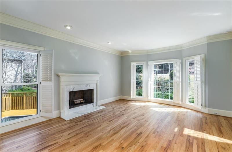 Very spacious dining room with plenty of space for 14 guests & china cabinet or hutch!