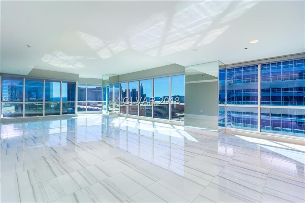 Beautiful end unit in tower 1 of famous Panorama Towers.  Enjoy the magnificent views to all directions including the strip and the mountains to the west.  Unit has 2 balconies and floor to ceiling glass windows in all rooms.  Take part in luxurious amenities the only highrise in Las Vegas can offer including free limo service for residents.