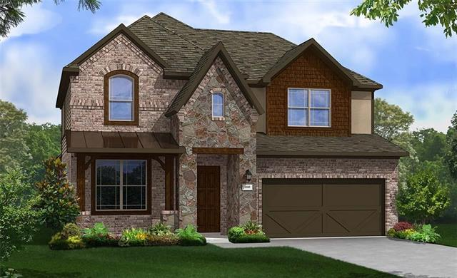 Two story Rosewood plan featuring study with French doors, additional bathroom upstairs, master bedroom bay window and covered patio. Granite Countertops, Custom Tile Backsplash, Covered Back Patio, Full Sprinkler/Sod in Front & Rear Yards. See Agent for Details on Finish Out. Available November.