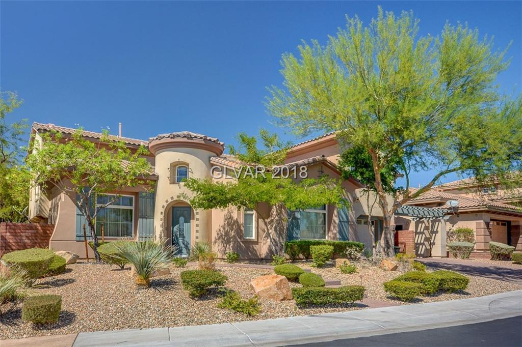 Put this beautiful Toll Brothers home at the top of your list! Located in gated Madera Community in Mountain's Edge. A must-see home featuring chef's kitchen with upgraded appliances, double oven and butler's pantry. The backyard has a water featured pool, built-in bbq and shaded patio for all your entertainment needs. A truly incredible home!