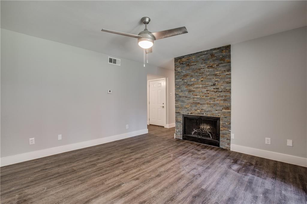 Completely remodeled 1 bedroom 1 bath condo in the heart of North Dallas.  Across the highway from Addison Circle, and minutes to the Galleria, Shops of Legacy, and Downtown. Easy access to DNT, PGBT and LBJ. Granite counter tops, two bathroom vanities, slate fireplace, vinyl plank flooring, new carpet in bedroom, new stainless steal appliances, utility closet for washer-dryer.  Pool, clubhouse, and tennis court in quiet, established Prestonwood Green. All new! Great Location!