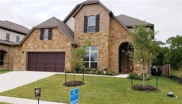 Walk into an open foyer, dining, and expansive open kitchen/dining/family with heartwarming fireplace. Filled with luxury features! Large windows and glass doors lead to covered patio. Beautiful master suite with utility room off master closet. Formal dining, study, game, media room. Wood floors, Flat Panel Cappuccino Brown Cabinets. Trento offers a beautiful hill country oasis with views and a luxurious swimming pool/amenity center. Milestone Community Builders.