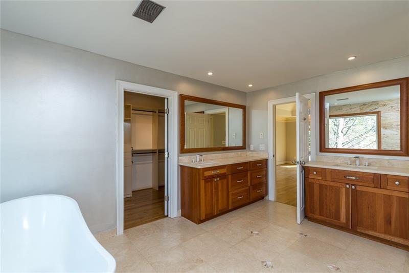 Master bath also has 2 shower heads, double vanities, spacious walk-in closet & HEATED FLOOR!!!