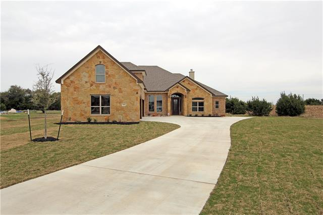 Tired of feeling like you're on top of your neighbors? Come check out the new construction by Carothers Executive Homes! Completion estimated Jan '18. This Truman II Plan is 2867 SF with 4 bedrooms, 4 full baths, a bonus room (with bath) over the 3-car garage, all on a full acre of land. Convenient location near the new Randalls's at Jim Hogg & Williams Drive. A quick drive or bike ride to Lake Georgetown. Great Georgetown schools!