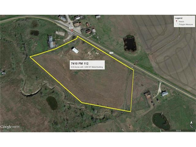 9.26 Agricultural home site. 1,800 SF steel building. Ideal for conversion to Barn-o-minium. Property has scenic views and great access to Taylor, Round Rock and Austin.  1 1/2 Inch Water Line and 3-Phase Electricity Available