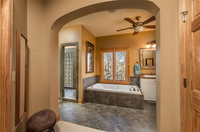 Master Bath, separate tub and large shower