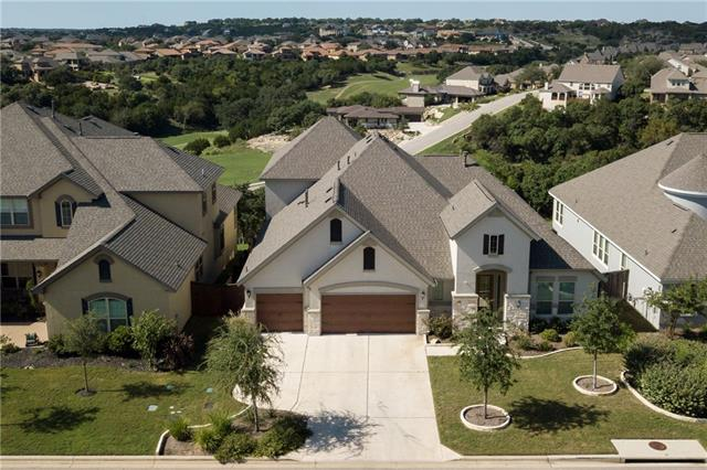 BEAUTIFULLY UPGRADED HOME WITH PANORAMIC HILL COUNTRY/GOLF COURSE VIEWS! Gated ~ Walk to ALL 3 Great LISD Schools ~ 2 Community Pools ~ Plantation Shutters ~ Epoxy Floor in 3 Car Garage ~ R.O. & Softener ~ Designer Paint ~ Upgraded Fixtures ~ Patio Extension ~ Side Courtyard ~ Greenbelt ~ Dead-End Street ~ Super Large Game Room OR Guest Suite Up w/Full Bath ~ 3 Bedrooms Down ~ Dedicated Office & Den ~ MAKE SURE TO SEARCH YOUTUBE FOR HD VIDEO TOUR!!