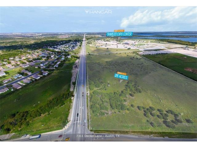 Unique opportunity to develop 26+ acres adjacent to the Travis County Expo Center redevelopment.  Perfect for hotel, restaurant, retail, and mixed use development in a rapidly growing area.  This parcel is zoned CS-1 (Commercial Services plus Liquor Sales) and all utilities are available on site.  2 miles to the new Bergstrom Expressway, 2 miles to Hwy 130, 9 miles to downtown Austin, 7 miles to the airport, adjacent to major redevelopment coordinated by the City of Austin and Travis County.