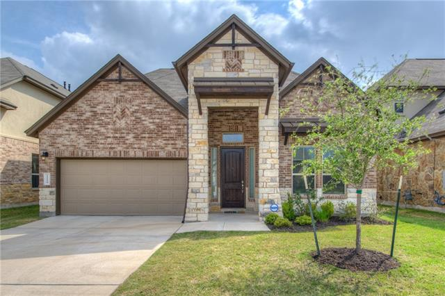 """Beautiful, like new beautiful home close to everywhere you want to be in Cedar Park. Minutes from 183 toll and across from Twin Lakes YMCA. Soaring ceilings in the entry and dining room invite family and guests into a warm and spacious kitchen/living space with eat-in island. Tasteful and on-trend appointments and selections like granite counters, gorgeous subway-style backsplash and 2"""" faux wood blinds throughout. You won't want to miss this Cedar Park stunner!"""