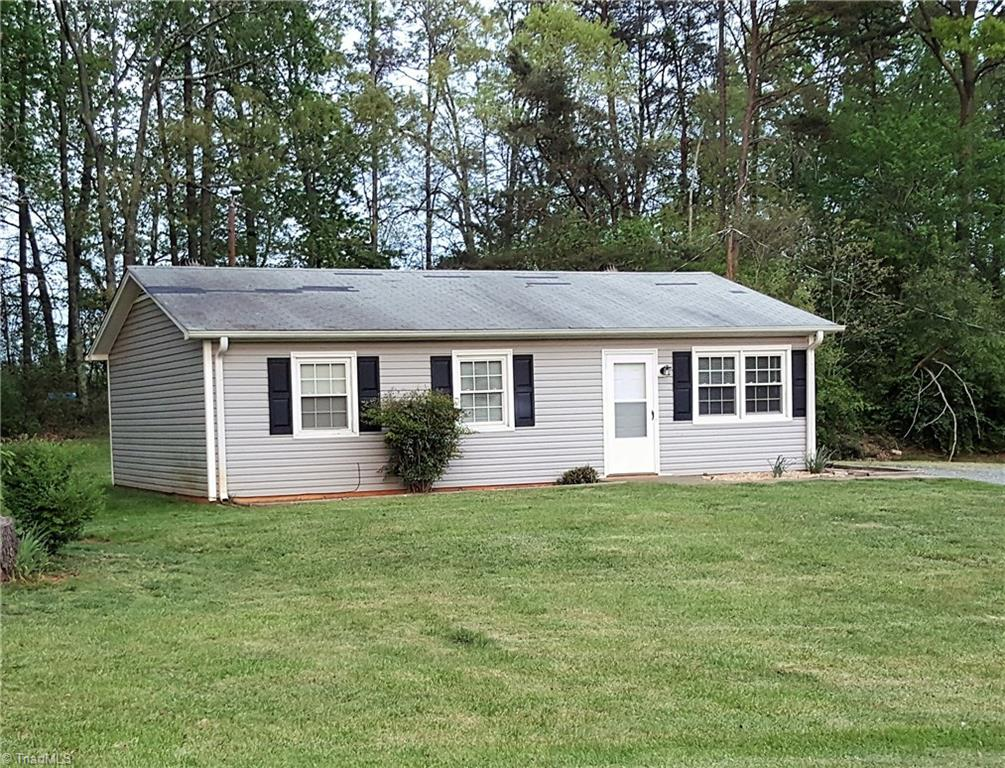Cute as a button home.  Simple living, all on one level.  Home has Heat pump for heating and cooling efficiency plus insulated windows.  Vinyl siding. Outside of city  taxes, nice yard for the kids to play and plenty of room for the family pet also.  Great starter home or retirement home. Home qualifies for 100% financing.