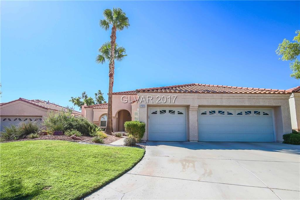 WOW ONE STORY WITH POOL ON GOLF COURSE Thousands in upgrades dramatic entry way leads you to theater like entertainment room. Gourmet like kitchen with stunning granite and upgraded cabinets.Then take a stroll out to amazing backyard with golf course frontage massive patio for entertaining and  huge sparkling pool. The master can be your own mini penthouse with relaxing spa like master bath Plus Jr Master Bedroom! PERFECT Next Gen Home  Rare Find