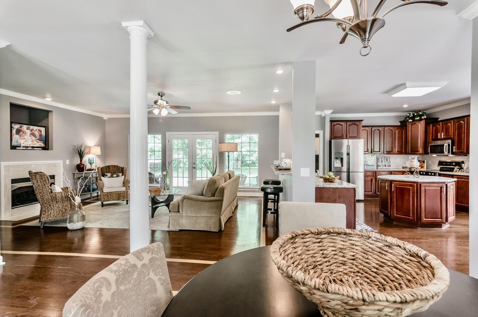 """Absolutely stunning, over 5,000 sq ft of luxury with hardwood floors and granite countertops throughout the home.   5 beds/5 full baths with another 2,000 sq ft available in basement for a studio, mother-in-law or rental apartment, or workshop.  See virtual tour at """"https://vimeo.com/269877917"""".  No HOA or Fees."""