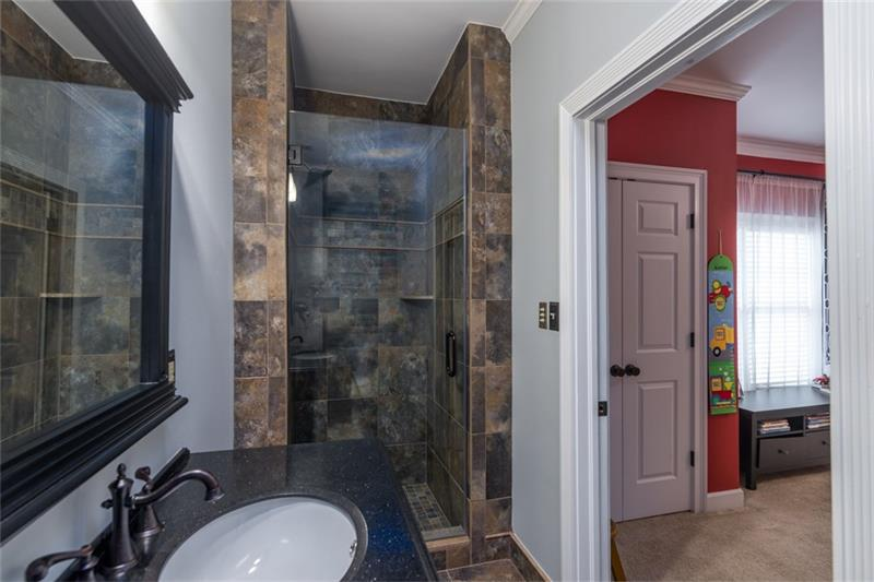 Spacious FULL, private bath for 2nd spare bedroom on main level!