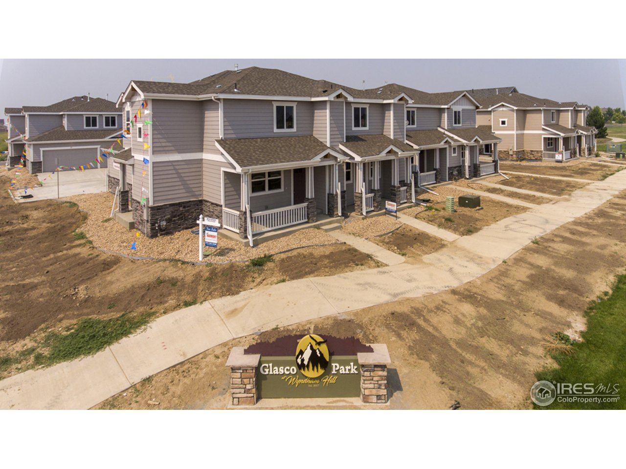 Glasco Park Townhomes are in the Wyndham Hill development in Frederick, Colorado. Pool, Parks, Clubhouse, Walking Trails and Open Space provide a wonderful Colorado living experience. Maintenance-Free living at its finest.  Very convenient I-25 access, close to Denver, DIA, Boulder and the new Agilent and Amazon workplaces. New elementary school in community. High end finishes throughout.  Over $15k in upgrades standard.  Full basements and 2 car garages are included.  Basement finish available.