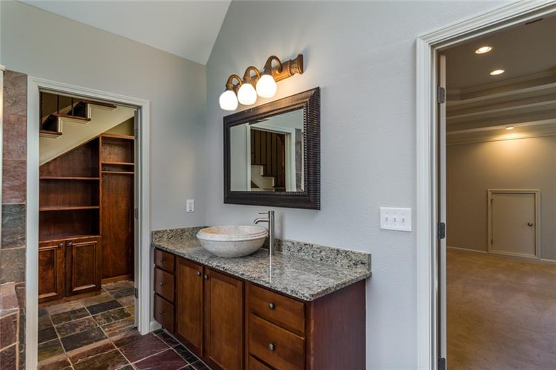 Add'l views of the master bath with walk-in closet off to left!