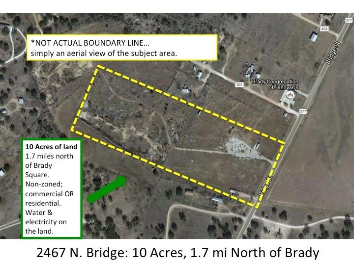 2467 N Bridge, Brady, TX 76825