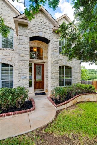 """Over 3,600 sqft on a .256 acre Cul De Sac lot backing to the Brushy Creek Greenbelt! This 2 story white stone home offers room to grow with: 4 beds,4 full baths,extra storage closets,large media/game room up,open family-breakfast nook-kitchen layout down,office at entrance, and more.Great blank canvas w/recently refreshed neutral paint, recently installed wood floors,refreshed wood deck panels & stain,recently installed 2"""" faux wood blinds, and a huge yard ready for your personal touches."""