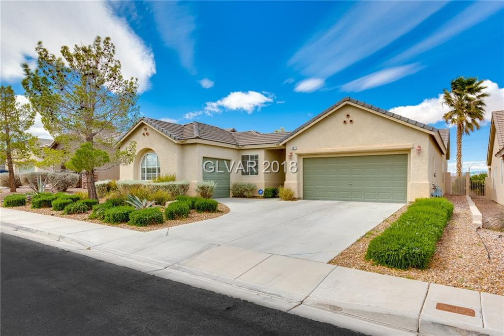 Location, location, location! All single story, gated neighborhood in the heart of Green Valley. Over 2,400 sq ft with 4 bedrooms. Large kitchen with breakfast nook, double ovens. Large lot with pool and spa with no neighbor behind.  Just minutes from Green Valley Ranch Hotel and The District.