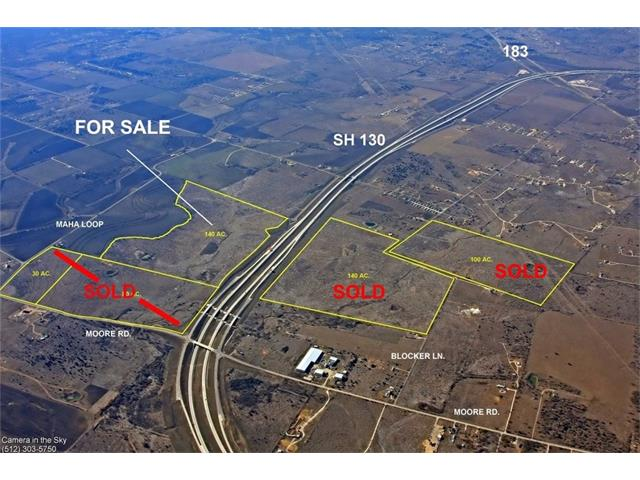 This listing is one of six tracts listed for sale.  Five of the six tracts have been sold, this is the last remaining tract.  This property has approximately 2,600 feet of road frontage on SH 130. The property has a rare driveway access onto the SH 130 frontage road for easy access north or south. Located 1.6 miles south of F1 Circuit of Americas and 3 miles east of Easton Park, Austin's newest and largest Master Planned Community. Electrical service from Bluebonnet Electric Coop.