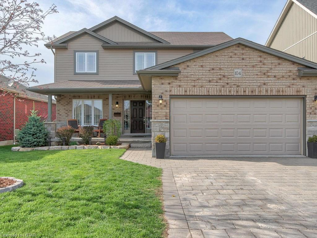Beautiful 4+1, 3.5 bath family home in Thames Springs subdivision in Thamesford.  Open concept main floor living.  Espresso cabinets in the kitchen, including stainless steel appliances (fridge, stove, new Bosch dishwasher) and convenient main floor laundry.  Basement is professionally finished with additional bedroom, spacious rec room with stone gas fireplace, storage space, and California shutters throughout.  Upstairs features 4 bedrooms, master with ensuite and walk-in closet, main bath, two linen closets.  A large fully fenced backyard with large deck and natural gas BBQ hookup, make it the perfect entertaining spot.  Lots of play area for children, raised garden beds and shed. Could this be your new home?