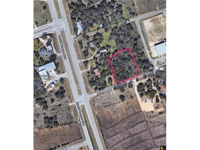 1.9 acres, currently zoned Single Family.  Leander's Future Land Use Map has this in a mixed used corridor so the conversion to Commercial zoning can be straightforward.  This property would make a great add-on to neighboring lot MLS 4099804 which is 1.67 acres of corner lot on Ronald Reagan.