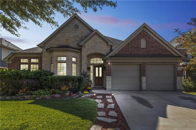 Pride of ownership shows throughout this immaculate one-story in highly desired Crystal Falls! Walk to schools, pool & water park. Quality & attention to detail abound w/tasteful upgrades including fresh paint & recently-installed carpet & backsplash. Plenty of room to entertain featuring an open floor plan w/hand-scraped wood floors, inviting foyer, island kitchen w/stainless steel appliances, formal dining, study, secluded master suite & a fantastic outdoor living w/ private garden, patio nook & gazebo.