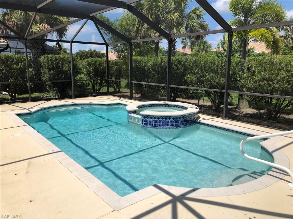 lowest priced detached single family home in Ave Maria AND it has a pool with spa with lanai enclosure AND front open area views