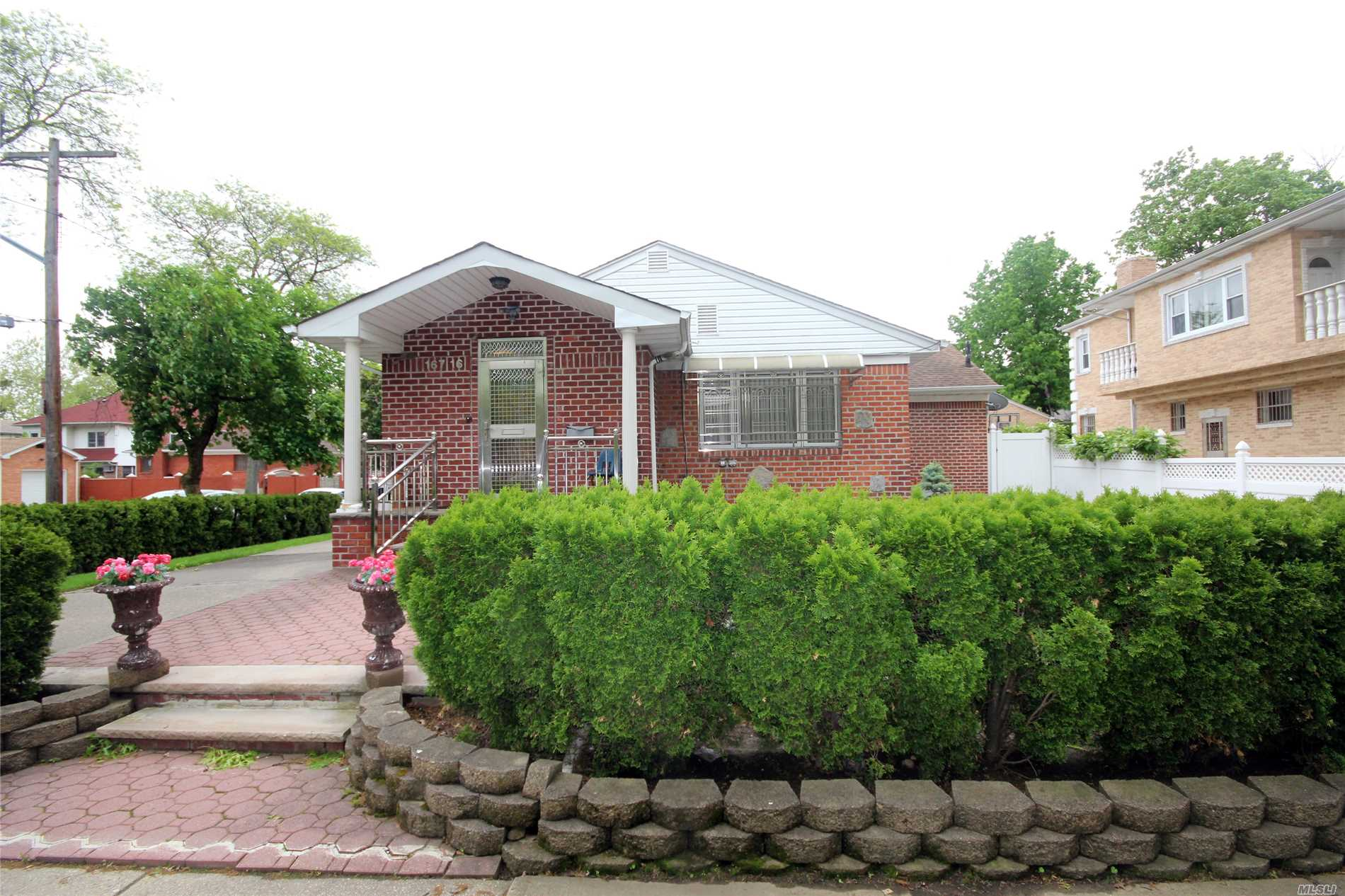 One Of A Kind Lot In Fresh Meadows. Renovated, 1 Family House With A Side Extension Of 12X18 (Large Eat In Kitchen). The House Features, Large Foyer, Living Room, Formal Dining Room, Large Eat In Kitchen With Skylight, 3-Bedrooms, 2.5-Baths, Large Full Finished Basement Equipped With Laundry Room, Walk In Cedar Closet And Boiler Room. The House Is Equipped With Central Vacuum System, Sprinkler System And Central Air, Spacious Backyard And Beautifully Landscaped Large Side Yard.