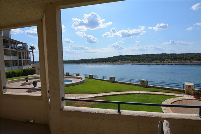 Most popular 2 bedroom plan at the Island. Major renovation with new cabinets, plumbing and electrical fixtures.Unit overlooks the main body of Lake Travis and quiet courtyard/fountain. Come enjoy all the amenities of the resort; including 2 outdoor pools both with jacuzzi, one indoor heated lap pool, spa, fitness center, tennis courts, barbecue areas, restaurant and sports bar. Bring your boat as villa comes with 24' covered boat slip at newer marina. Slip valued at $24,000! Lake living at its best!