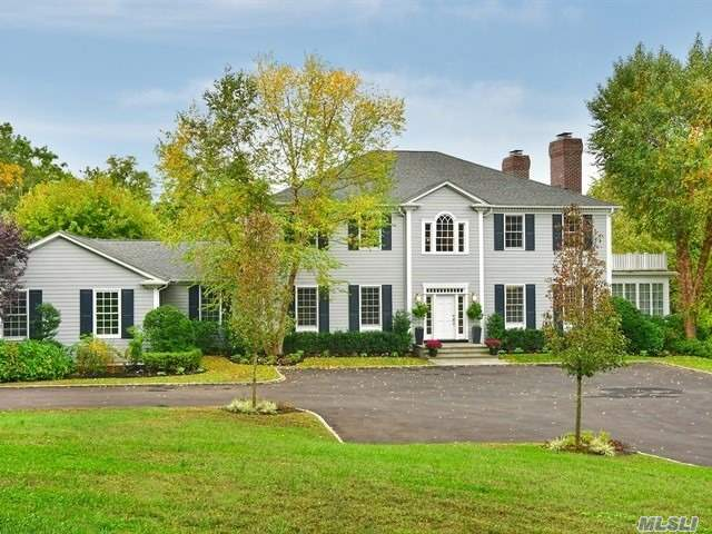 Dramatic & Elegant 5 Bdrm Stately Colonial. Open Concept Living/Entertaining Space, 10 Ft Ceili, 3 Fpls, Wd Flrs, Gourmet Chefs Kitchen Plus 5 1/2 Exquisite Bthrs. Mstr Suite W/Fp , Custom Closets, Luxurious Marble Mstr Bth, Oversized Rms Throughout. Lower Level W/Home Theatre, Game Rm, Family Rm, All This Plus Acres Professionally Groomed & Landscaped.