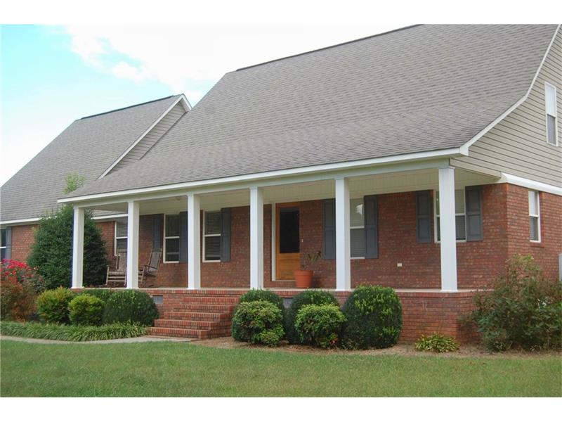 Just what you are looking for!  4 Sided Custom Built Brick Ranch, Beautifully Finished Barn with Level Fenced Pasture.  A bonus room which can be used as a 4th Bedroom.  With 17 acres, it is easily manageable.  Bring your horses, and come on! Wet weather pond on property!