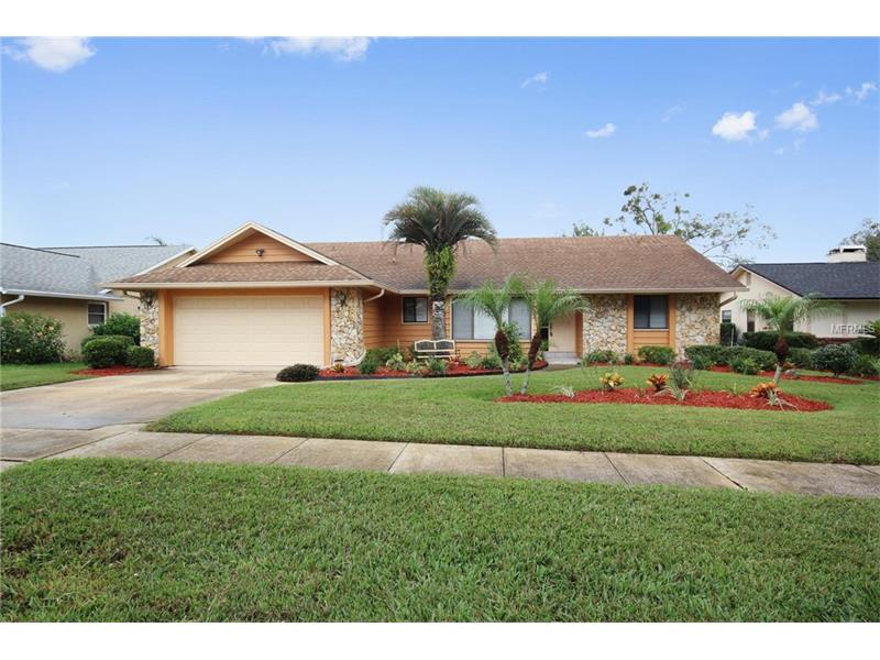 Beautiful 3/2 POOL home in the heart of Apopka! Living room/dining room combo area is open and flexible to fit your interior design desires! Winter will be exceptional this year with a large, stone FIREPLACE to enjoy. The flexible living area has skylights and sliders, overlooking the sparkling pool. The kitchen boasts UPDATED wood cabinets, a pass-through to the living/dining area and a breakfast nook in front of a large picture window. The master bedroom displays a vaulted ceiling and sliders to the lanai. Both showers are updated for handicap access, making this home an easy fit for anyone! You'll love hosting your guests with a HUGE lanai and screened pool. You'll have an easy commute to Wekiwa State Park, major highways, shopping, dining and much more!