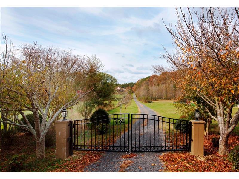 Gated entrance!