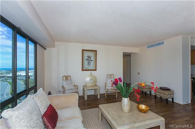 Live-work-play in wonderful Downtown Honolulu in this remodeled unit with granite counter tops, near Chinatown, Aloha Tower Marketplace, Kakaako, and Iolani Palace - the only royal palace in the U.S. Cool, quiet side of the building with views of Koolau Mountains, Honolulu Harbor entrance, and pool. Well-maintained building and large unit with bedrooms separate from each other. Assigned covered parking stall. Transferable American Home Shield!! Easy to see!