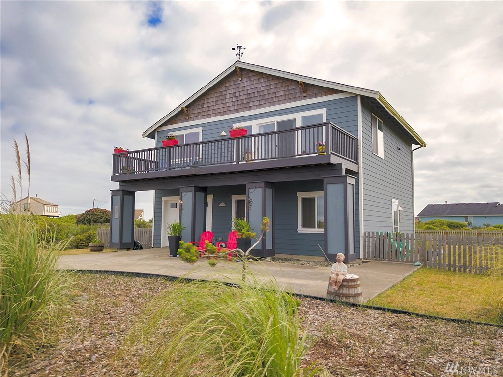 The Perfect Beach House!  This home is located just a few blocks to the beautiful golden sand beach in Ocean Shores. Listen to the sound of waves and catch a glimpse of the crashing surf from the living room window and front deck. This home has been thoughtfully updated and upgraded with granite countertops, new paint inside and out and a large fenced back yard.  Home is a member of the Ocean Shores community club and is located conveniently close to the Cabana Pool and Perkins Pond.