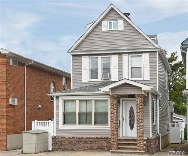 Beautiful Newly Renovated 4 Br/2Bth Colonial.  Totally Updated Inside/Outside Within 5 Years Including Roof, Siding, Insulation, Windows, Floor, Boiler, Electric 220 Amps. Maintenance Free Backyard With Detached Bonus Recreation Room With Cac/.Heat.  3 Heating Zones, Near Elementary School And Q25 Bus Stop, R4-1 Zone.