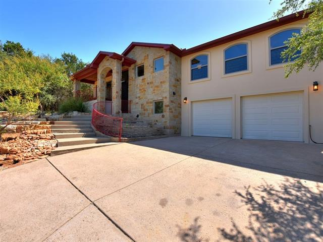 You'll love this gorgeous one story home with open floor plan and breathtaking hill country views of Lago Vista. This 3 bed, 2.5 bath home with 2.5 garage will give you 2100 sq ft of generous space to move about. Wind down each evening with awe-inspiring sunsets and tranquil sounds of nature.This home features high ceilings with beautiful wooden beams, open kitchen, huge wood burning fireplace, covered front patio and so much more  New roof installed 08/18/New Ringer Windows installed double E Rate 08/17.