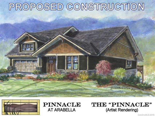 PROPOSED CONSTRUCTION in the Pinnacle at Arabella Heights, a new, gated subdivision in Arden NC.  The Pinnacle 1 is a low-maintenance home with main-floor living.  Enjoy your deck with long range mountain views; vaulted & tray ceilings; sunroom; granite countertops; hardwood floors; gas fireplace; multi-zoned HVAC; tankless water heater; solid-core doors; frameless master shower door; & NO YARD WORK.  Huge selection of interior finishes let you personalize the home to suit your own unique style.  Community includes: clubhouse with fitness center; neighborhood pool; and walking trails.  Full city amenities with underground utilities, city sewer & water, yet county-only real estate taxes.  Convenient to Biltmore Park, only 5 minutes!  Long-range community views of Asheville & Biltmore Estate! Energy Star/Green Built.