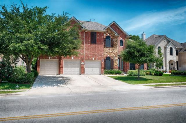 Beautiful Drees home w/large backyard,covered patio&100+ year old Oak tree.Walk to elementary&middle school.5 bedrooms,4 baths,family w/fireplace&gas logs,game,& media room wired for SS.Kitchen w/granite cts,tile bs,gas ct&ss appliances.Master bedroom/bath+ 5th bedroom/full bath down.Master bath w/double vanity,jetted tub&separate shower.3 bedrooms up w/full&J&J bath.Plantation Shutters,solar screens,security&sprinkler systems,water softener.