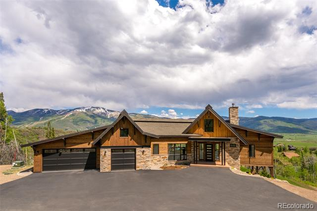 Beautiful NEW South Valley home 7 minutes from Mt. Werner Rd in a private end of the road setting. This Smart Design by Michael Olson will give you the luxury, relaxation, & panoramic views of the Ski Area & the South Valley you have been looking for.  Live inside & out in this 4br, 3.5 ba Mountain Modern home with high-end finishes by Rumor Design. Never miss the Alpenglow from the 814sf covered deck or relax in the outdoor living room with a wood burning fireplace & flat screen TV. The home has an open floor plan with hammer truss beams, a modern steel & stone fireplace, sleek gourmet kitchen with a wine station, main floor master suite, office, & a mudroom. The lower level has a guest suite, two brs with a Jack n Jill Bath, & a second living area with a wet bar that walks out to the hot tub. Enjoy the spacious level yard plus a seasonal creek & year round pond. This is a wildlife oasis on a knoll next to a 160-acre remainder parcel. Furnishings negotiable & detailed info available.