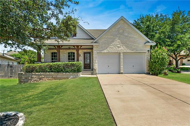 Classic Texas limestone home in popular Star Ranch neighborhood. Great location, just around the corner from the community pool, HEB & the Golf Club @ Star Ranch. Easy access to 130 & 45. Sits on a large culdesac lot, one of the largest in the subdivision. Relax on the peaceful front porch or party on the spacious back deck. Unique floorplan allows for tons of flexibility depending on style & need. Built in 2003, single owner recently updated w/ fresh paint, new wood floors and stainless steel appliances.