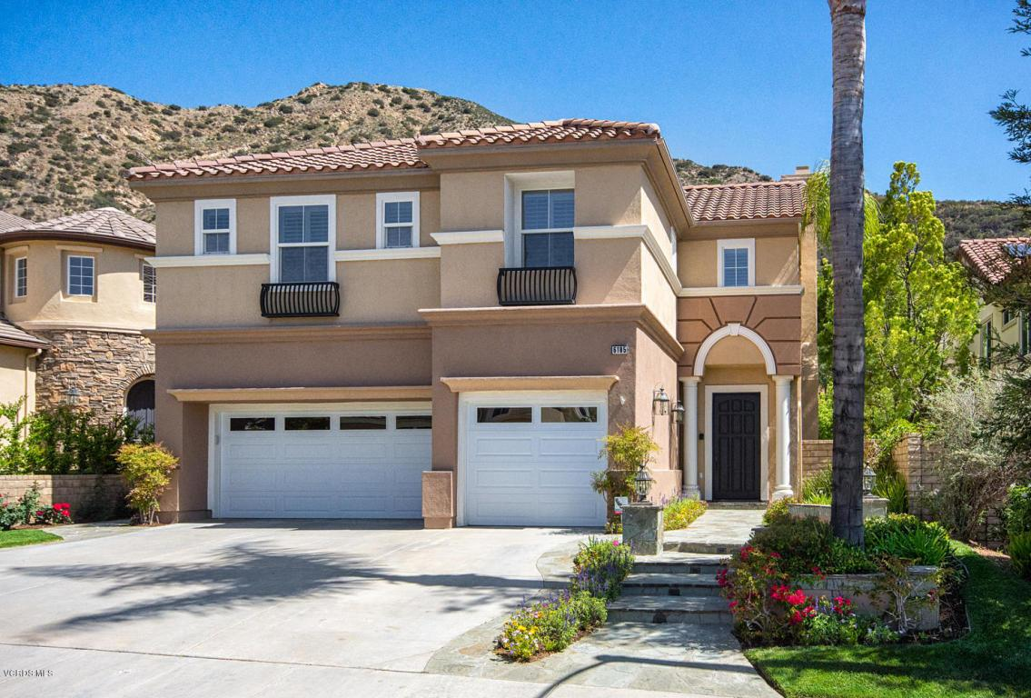 First time on the market!  This highly upgraded residence is located in the prestigious community of Chambord.  It is perfectly situated at the top of the development, and backs to open space.  The gourmet center island kitchen features GE Monogram stainless steel appliances, granite counters, travertine backsplash, and travertine flooring.  The casually elegant family room boasts a beautiful travertine fireplace and built in entertainment center.  The romantic master suite offers serene hillside views.  The spa-like master bathroom has dual basins, vanity area, soaking tub, shower with dual showerheads, and walk in closet.  The 5th bedroom has its own en suite bathroom and staircase.  The entertainer's backyard features a Sundance Spa, built-in BBQ, kegerator, and grassy area.  A side courtyard offers an intimate gathering space.  All bathrooms have been exceptionally upgraded with extensive use of travertine.  Other features include custom faux paint, gold leaf accents, luxurious custom draperies, exquisite moldings, plantation shutters, upstairs laundry, and 3 car garage.  Walking distance to Medea Creek Middle School and Oak Park High School.  Low HOA.  No Mello Roos.  Many hiking trails and parks nearby.  Easy drive to beautiful Malibu beaches.