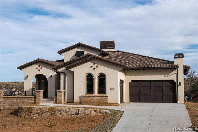 Welcome to The Verona by Thomas Sattler Homes. Located in Ravenna, a gated golf club community, this exceptional 3 bedroom, 4 bathroom ranch style home is located on a custom lot in the Umbria enclave. The main level features a large, private office with stunning views, a welcoming 2-way fireplace to an over-sized dining room, gourmet kitchen, family room, main floor master bedroom and bathroom suite, and laundry room. The over-sized deck offers covered and uncovered outdoor living with open space views. The walk-out lower level is where you will find 2 additional bedroom suites with a large great room, flex space and plenty of storage space. The Verona plan features elegant finishes throughout with approximately 2,530 finished square feet on the main level with an additional 2,271 finished on the lower level. This home has a very open floorplan, with an abundance of windows to capture the best views in all of Ravenna!