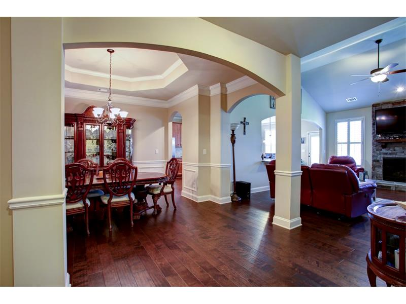 Openness GALORE! 12+ seat dining room for friends & family!