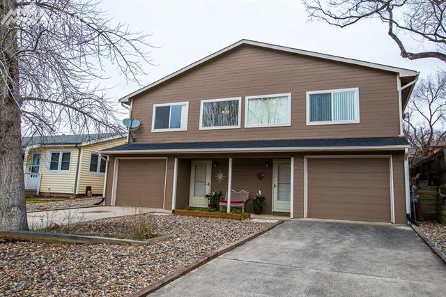Fabulous duplex in desirable west Colorado Springs! Each unit has 2 bedrooms on upper level and 1 on lower, 2 bathrooms, full on upper and 3/4 on lower, 2 living areas, the one upstairs with a fireplace, fully equipped kitchens and tons of natural light.  1-car garage per unit + extra parking space in back area. Walking distance to Garden of the Gods Regional Park, Old Colorado City and Red Rocks Open Space. Close to shopping, schools, parks and trails. Must see!