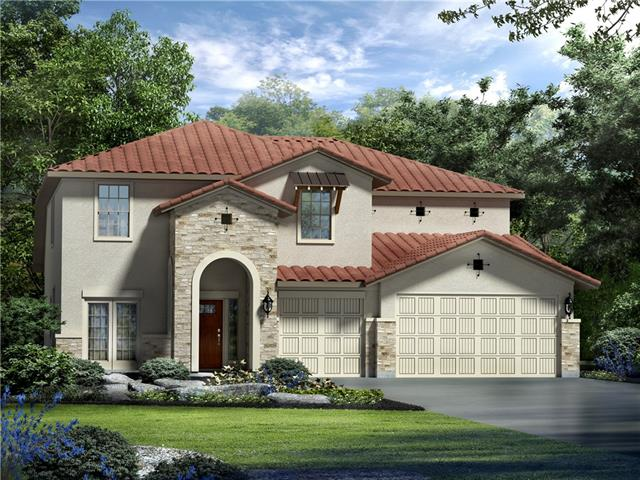 Beautiful two-story, open floor plan with incredible hill country and lake views from the large covered patio and second story balcony.  The gourmet kitchen opens to a large two-story great room.  This home is a must see and won't last long.  Completion in Spring 2018.