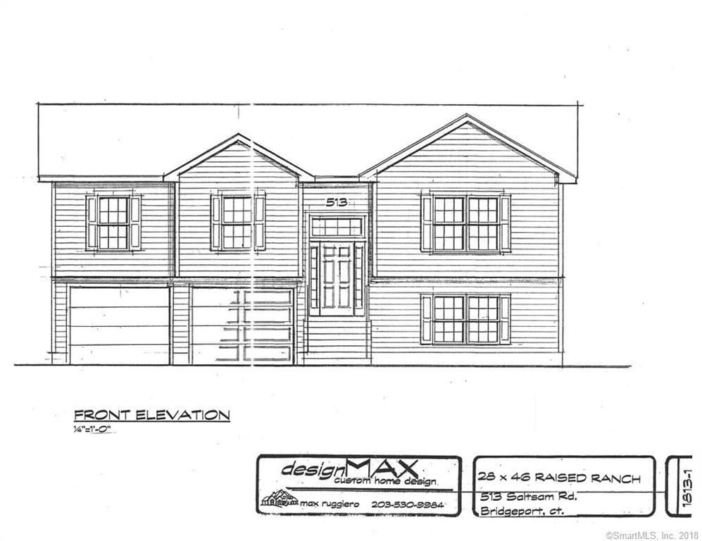 Brand New Construction to be completed Fall 2018. Nothing like living in a Brand New Home. Can customize home to taste and add personal touches before construction commences on a Gorgeous Raised Ranch with 2,200 Sq ft livable space including finished lower level. Perfect for entertaining in your L-shaped kitchen with Island and Granite Counter-tops adjoining the Dining and Living-room with sliders to walk out to Deck on back of home. Master bedroom has attached bathroom with a shower. Two generous bedrooms share Full bath with tub in hallway. Downstairs has a HUGE family room, half bath and laundry room with access to the two car garage under the home. Construction will begin when current project is completed approx- end of June. Ideal for commuters near Rt. 8, Merritt Parkway or I95. This is a MUST SEE!  New Construction by local builders. Can customize plan prior to foundation. Same builder as 477 Seltsam Rd. Taxes are not accurate. Property will be assessed at completion of C/O and taxes assigned.