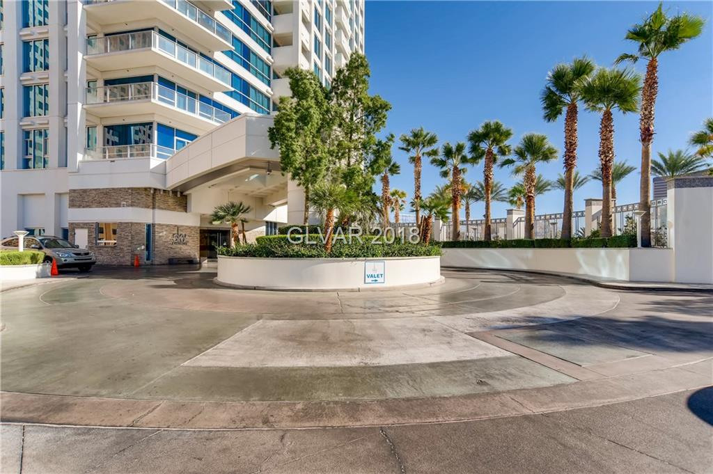 TURN KEY UNIT READY FOR IMMEDIATE OCCUPANCY.  THIS ONE BEDROOM UNIT IS LOCATED ON THE 27TH FLOOR WITH AWESOME VIEWS.  IT HAS BEEN FULLY FURNISHED AND SHOWS BEAUTIFULLY.  WINDOW COVERINGS/ STAINLESS STEEL APPLIANCES/ GRANITE COUNTERTOPS AND MUCH MORE.  THIS WILL NOT LAST LONG.  LOCATED ON THE LAS VEGAS STRIP WITH A GUARD GATE, SECURITY, POOL WITH CABANAS, SPA, FITNESS CENTER AND MUCH MORE.